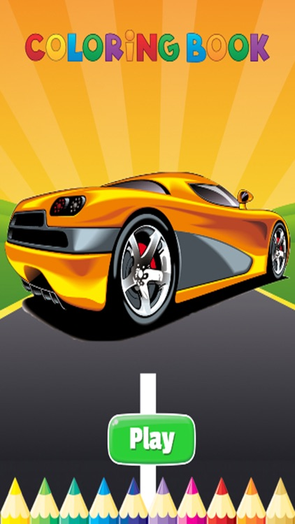 luxury Car Coloring Book - Activities for Kids screenshot-0