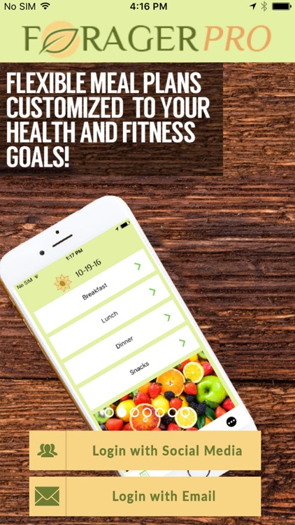 Forager - The Diet Meal Planner and Tracker! screenshot-4
