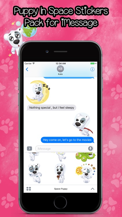 Puppy In Space Stickers Pack for iMessage