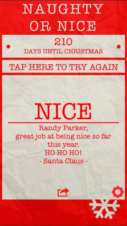 Santa's Naughty or Nice List ◌