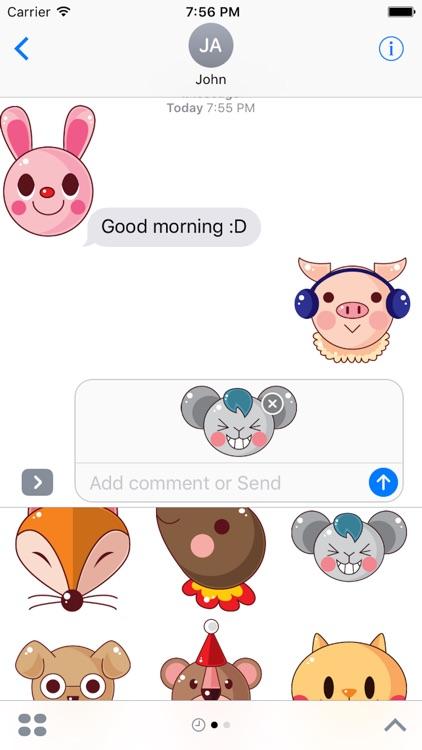 Animal Funny Sticker Pack 01 screenshot-3
