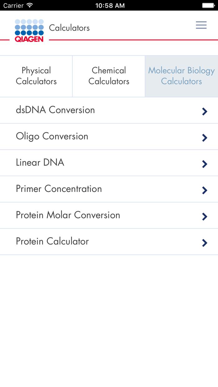 QIAGEN App Screenshot