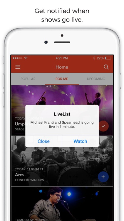 LiveList: Live Stream Concerts screenshot-2