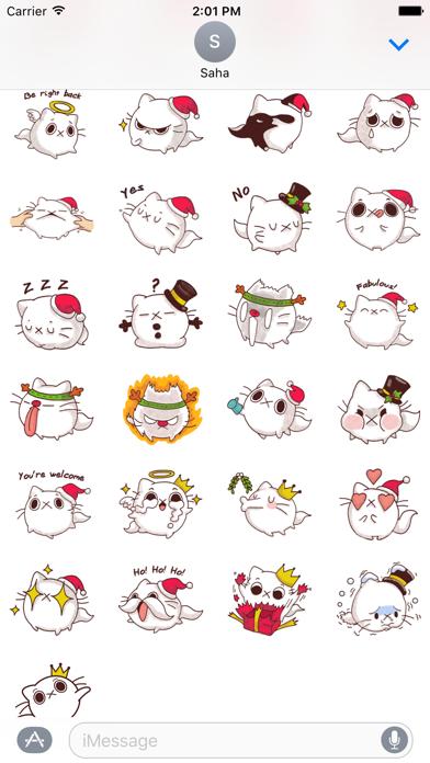 Cat Winter Christmas Stickers screenshot two