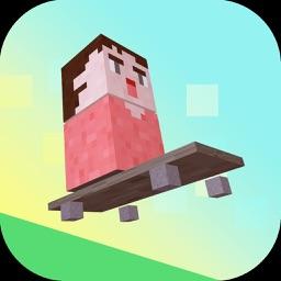 Pixel Blocky Pup Jump