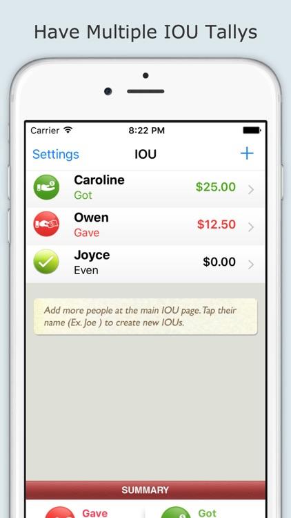 IOU (I Owe You) App - Track people who owes you money screenshot-3
