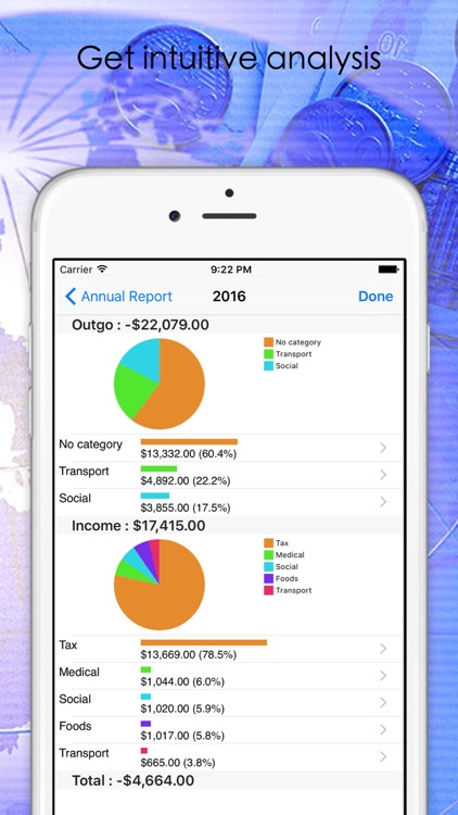 PocketMoney-Account, Budget and Cashflow Manager