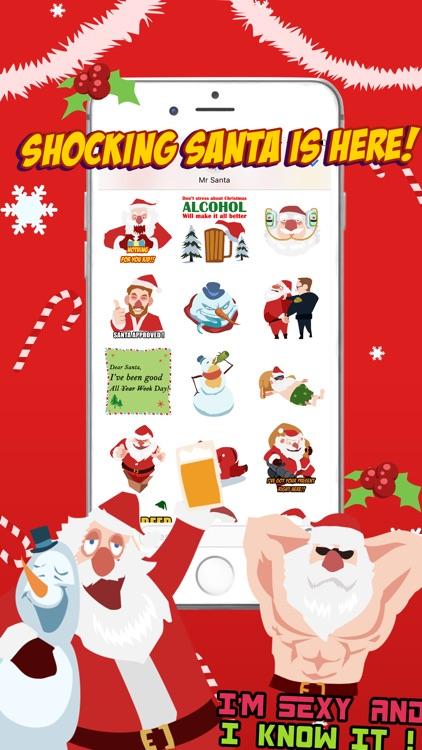 Shocking Santa - Santa Claus Gone Bad Stickers screenshot-4
