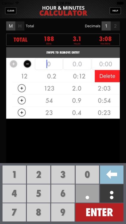 Calculator Hour & Minutes