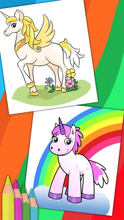 Unicorn & Fantastic Animals Pegasus coloring pages