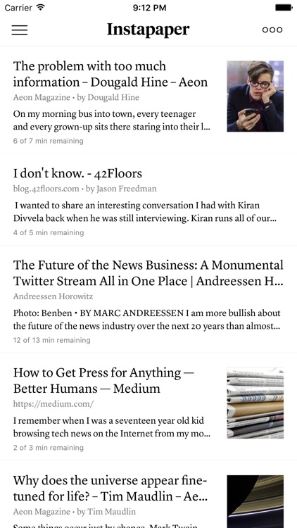Instapaper screenshot-0