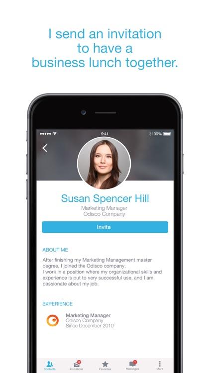 LikeLunch: the business meet-ups application screenshot-3