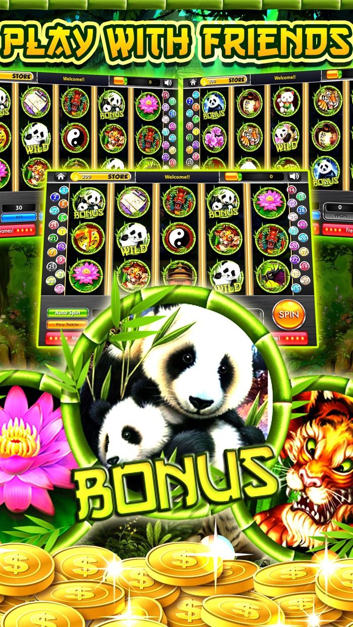 Wild Diamond Panda Slots Free Slot Machines Games Screenshot