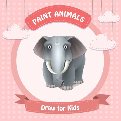 Paint Animals : Draw for Kids - Coloring Book