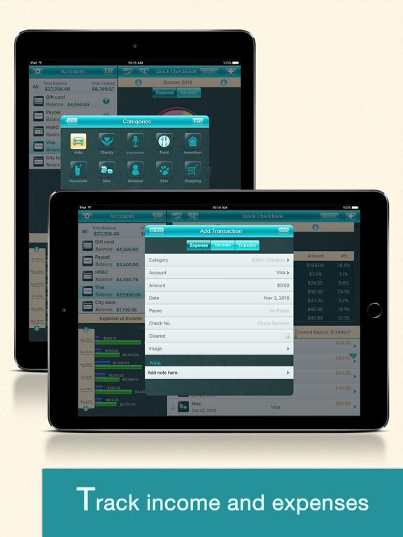 Quick Checkbook Pro for iPad screenshot two