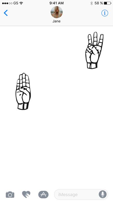 Sign Language Sticker Pack screenshot three