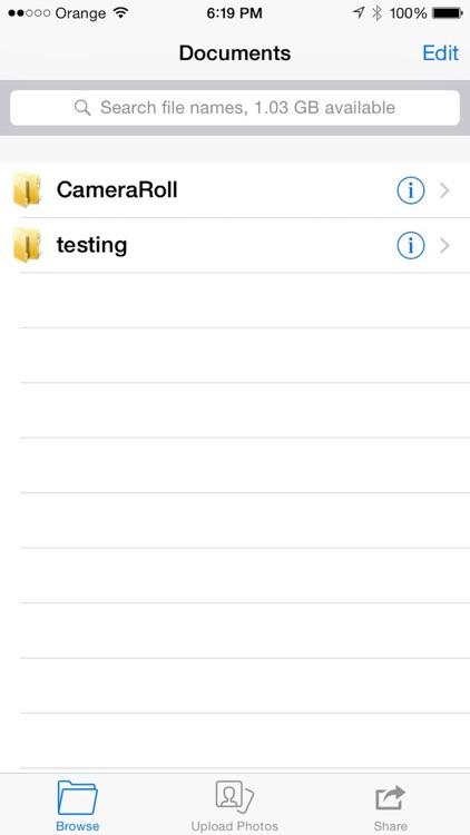 DiskOnPhone (Wireless SMB Server Hard Disk Drive) screenshot-0