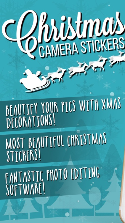 Christmas Decorations Camera Stickers Photo Editor