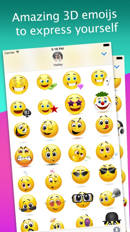 3D Emoji Stickers for iMessage
