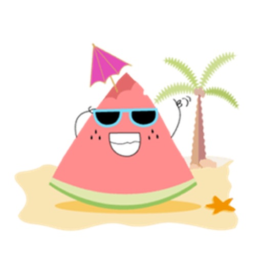 Relaxing Watermelon Emoji Sticker