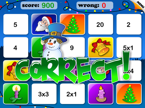 Abby Basic School Snowman Math: Challenge Educational Game for Kids by 22learn screenshot 4