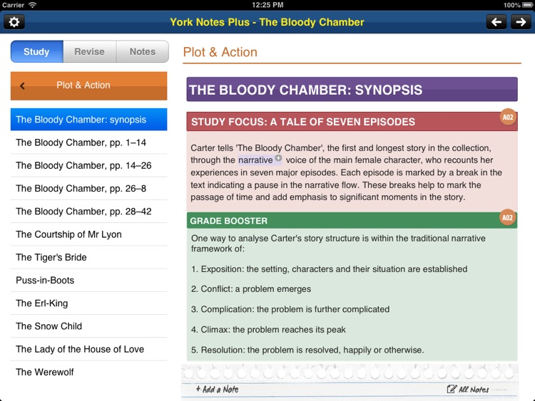 The Bloody Chamber York Notes AS and A2 for iPad