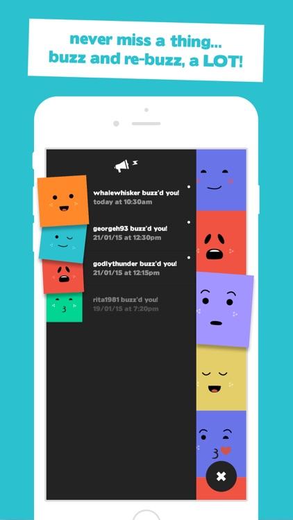 Buzz - The new way to send emoji's with sound alerts to friends screenshot-3