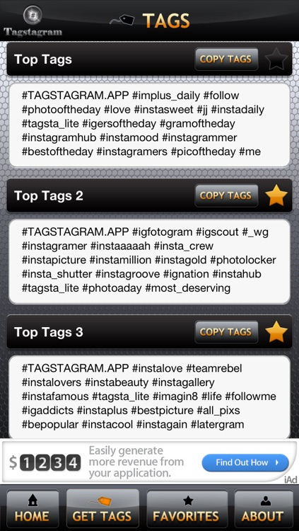 Tagstagram Lite - Copy and Paste Tags for Instagram screenshot-4