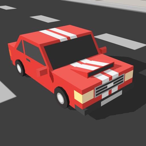 Speedy Car Racer - Free Craft Traffic Game of Blocky Mustang