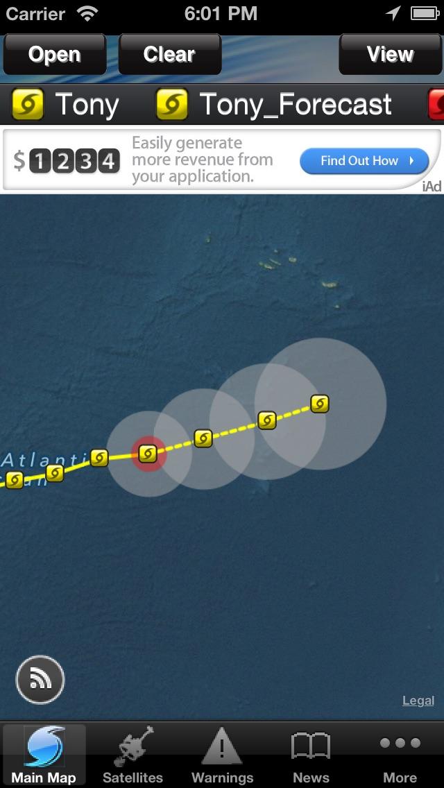 Hurricane Tracker By HurricaneSoftware.com's - iHurricane Free Screenshot