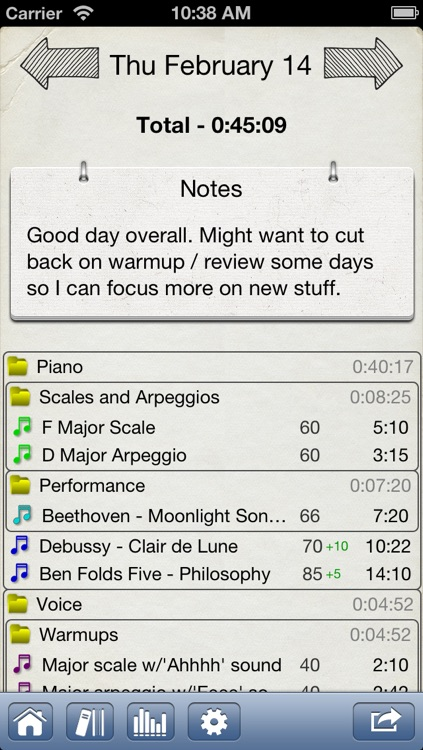 Music Journal Pro - Practice + metronome app to log time and bpm screenshot-3