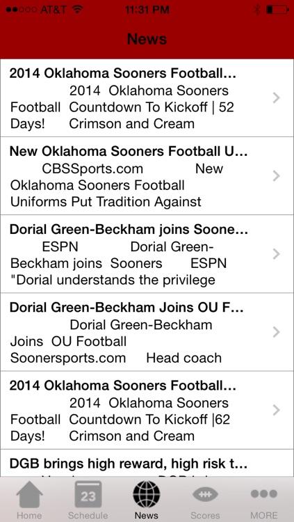 College Sports - Oklahoma Football Edition screenshot-3
