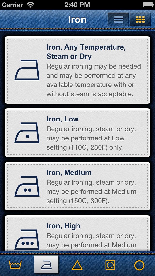 Laundry Symbols screenshot two