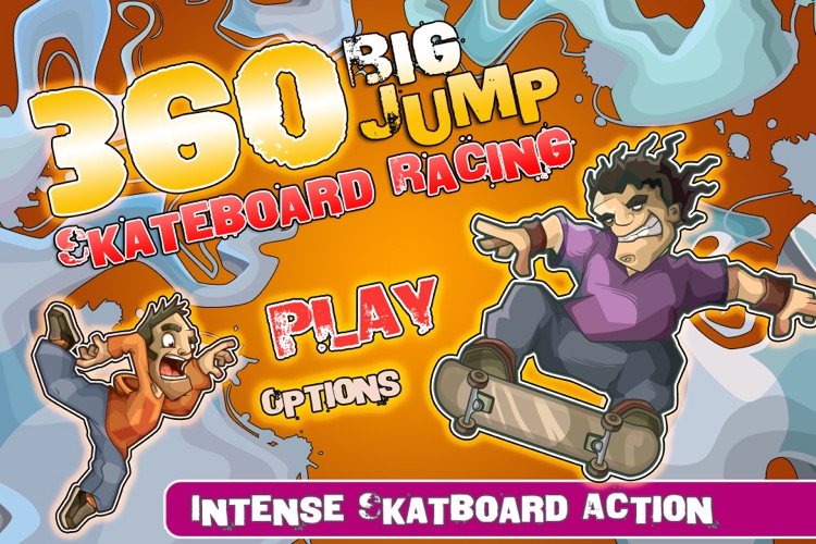 Skateboard Racing - 360 Big Jump