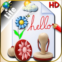 Sketchbook for color Drawing and Writing for iPad with stickers to create on various backgrounds -LITE