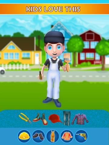 Dress Up Builder Bill - Fun Kids Game-ipad-0