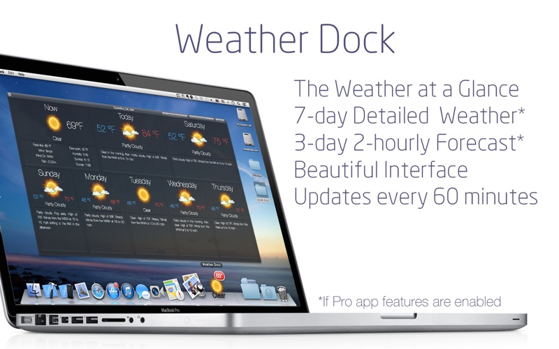 Screenshot #2 for Weather Dock: Desktop forecast