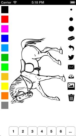 Libro para colorear caballos para niñas: aprender a dibujar poni ...