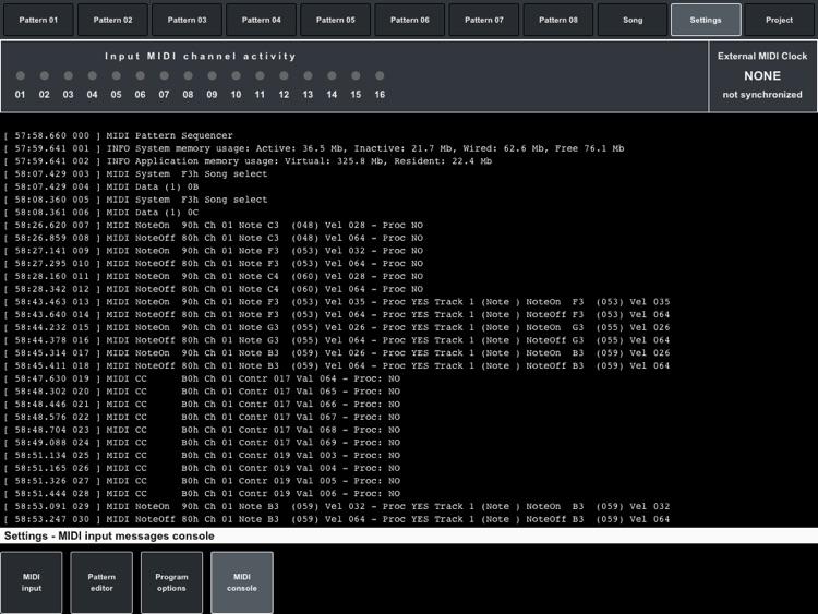 MIDI Pattern Sequencer screenshot-4