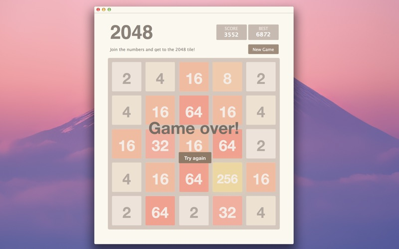 2048 5x5 for Mac
