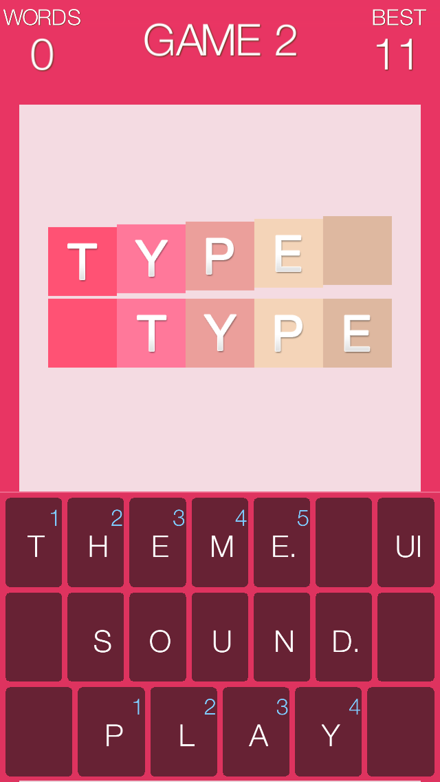 Type Type : The Hardest Typing Game screenshot one