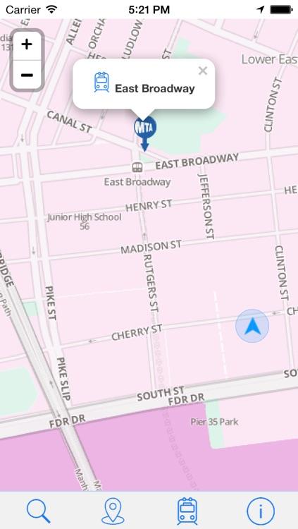New York Subway - Offline Map of Transports screenshot-4