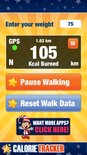 calorie tracker running app for fat burn and weight loss with