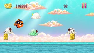 Clumsy Fish Hero Paradise - A FREE Happy Ice Cream Ninjump