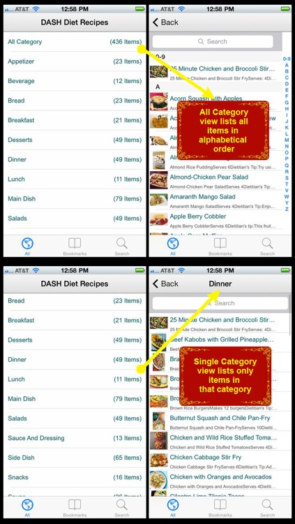 DASH Diet Recipes Plus+ screenshot-1