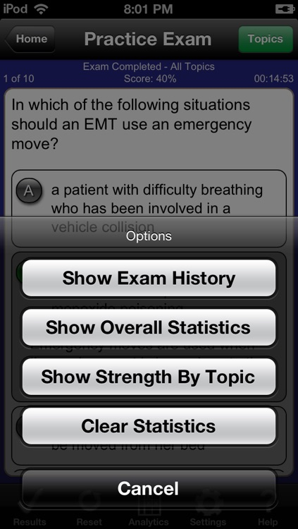 Barron's EMT Exam Review Practice Questions and Flash Cards screenshot-4