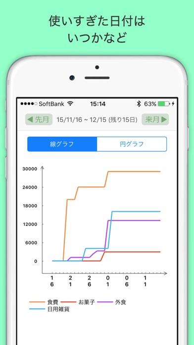 袋分家計簿 : 簡単人気の家計簿アプリスクリーンショット3