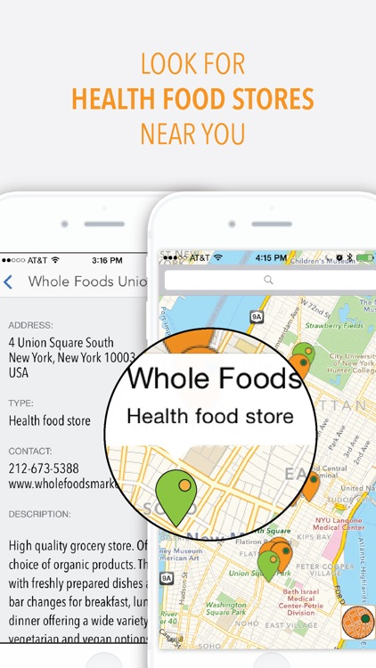 Healthymap - Vegetarian restaurants NYC