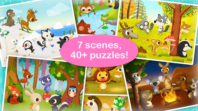 Wildlife Jigsaw Puzzles 123 Free - Fun Learning Puzzle Game for Kids screenshot-4
