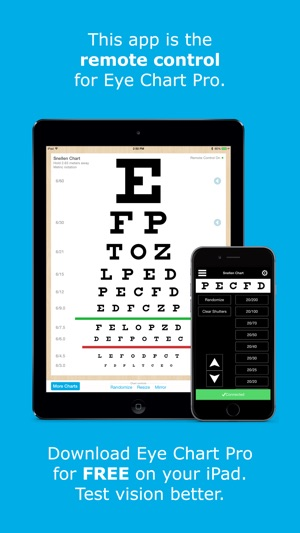Eye Chart Pro Remote Control On The App Store